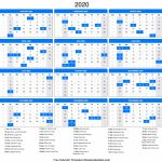 2020 Calendar Calendar 2020 With Day Count