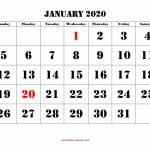 2020 January Calendar January January2020 Countdown Calendar 2020