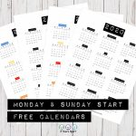 2020 Yearly Calendar Free Printable Bullet Journal And Disney Full Year Calendar Print Out