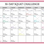30 Day Squat Challenge Calendar Printable Online Squat 30 Day Squat Printable Calendar