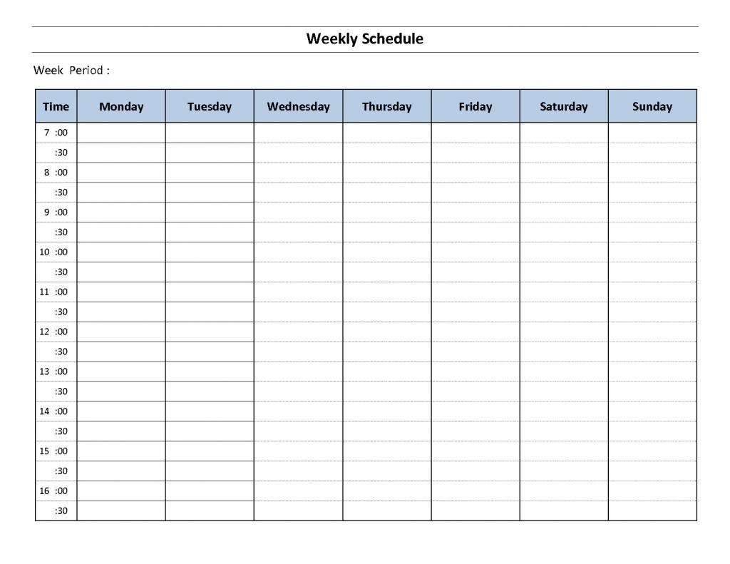 7 Day Schedule Maker Hamlersd7 1 Week Itnerary Calendar