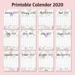 Beautiful Floral Free Printable Calendar 2020 For Mommies Create A Free Calendar Printable