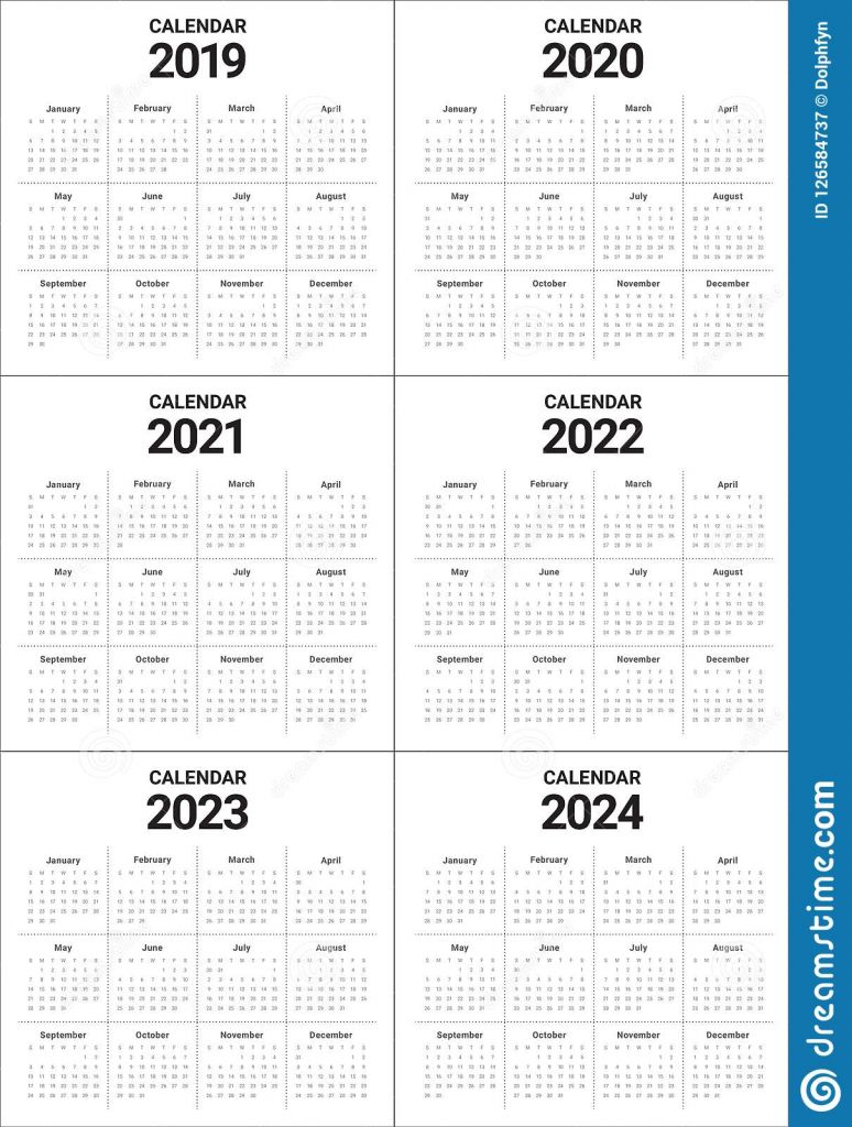 best free 4 year calendar 2019 to 2022 printable japan 5 yr calendar printable
