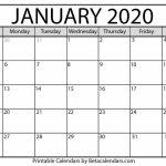 Blank January 2020 Calendar Printable Beta Calendars Countdown Calendar 2020