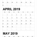 Blank March To May 2019 Calendar Printable 3 Month Printable Three Month Calendar Template