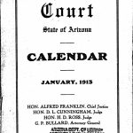 Calendar Of The Arizona Supreme Court January 1913 Superior And District Court Calendars Format