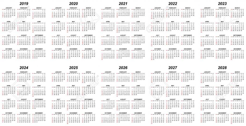 calendar years ronalrsd7 ten year calendar