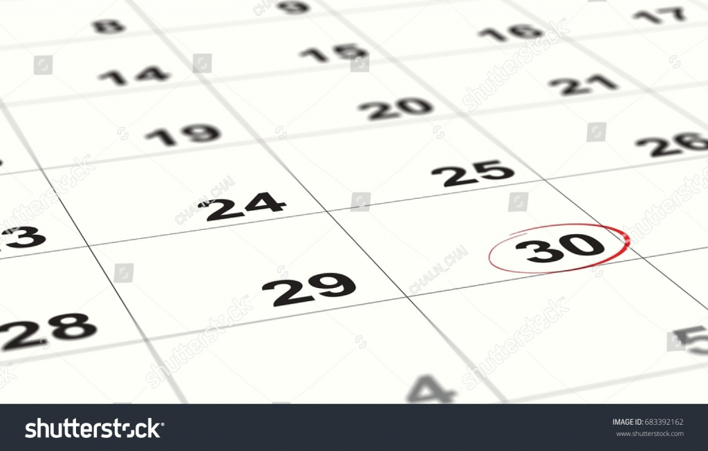 close date 30 red circles on stock photo edit now 683392162 end of the calendar