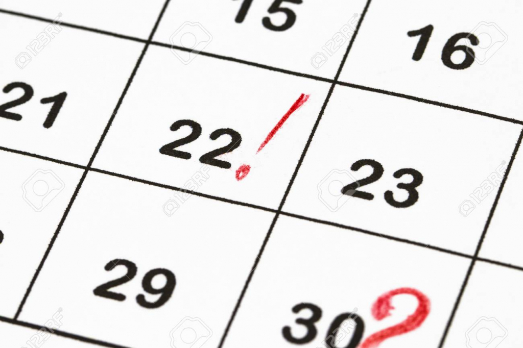 close up a date 30 with red circles on a calendar end of the end of the calendar