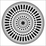 Crafters Workshop Template 6×6 Mayan Calendar Mayan Calendar Template