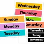 Days Of The Week Printable Free Free Preschool Preschool Days Of The Week Printable Calendar