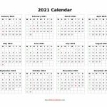 Download Blank Calendar 2021 12 Months On One Page Horizontal 10000 Year Calendar Printable