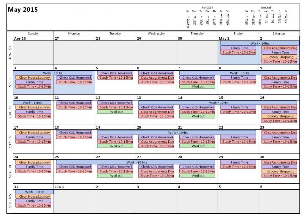 Example Time Management Calendar Wcu Wcu Student Resources Time Mangement Calendars