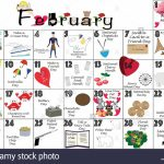 February 2020 Calendar Illustrated With Daily Quirky Weird Holidays 2020 Upload