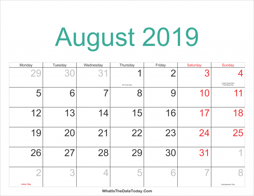 free august 2019 printable calendar editable templates 24 hours calendar schedule for month of august