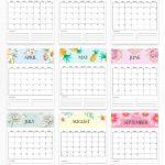 Free Calendar 2020 Printable 12 Cute Monthly Designs To 8 5×11 Free July 2020 Printable Calendar