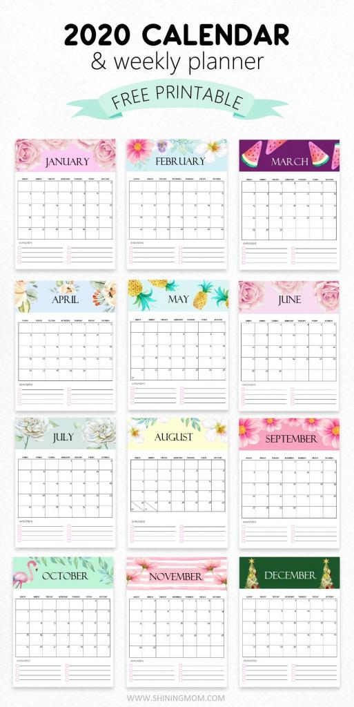free calendar 2020 printable 12 cute monthly designs to 8 5x11 free july 2020 printable calendar