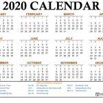 Free Printable 2020 Calendar 123calendars Free Printable Wallet Size Calendars 1