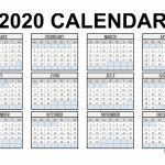 Free Printable 2020 Calendar 123calendars Printable Wallet Size Callendar 2020