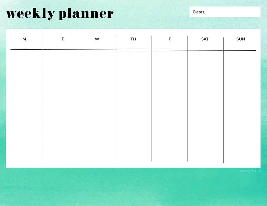 free printable weekly calendars get your week organized one week calander