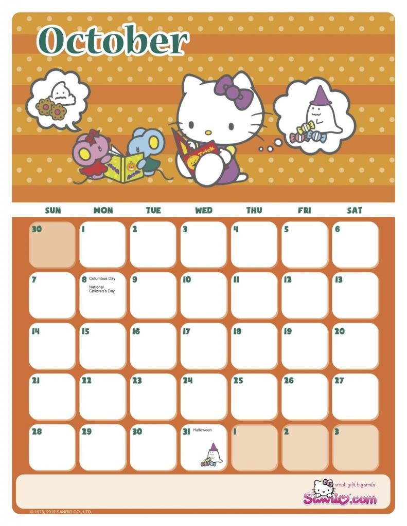 hello kitty papercraft hello kitty printable calendar the hello kitty october printable calendar 2020