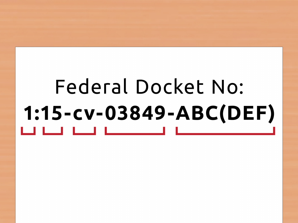 how to look up a docket number with pictures wikihow superior and district court calendars format