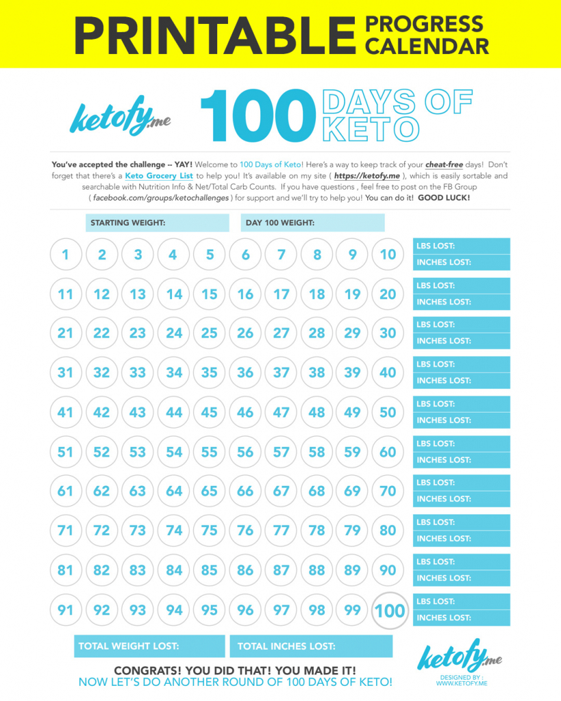 keto fy me cut carbs not flavor 100 days of keto 100 day squat challenge calendar