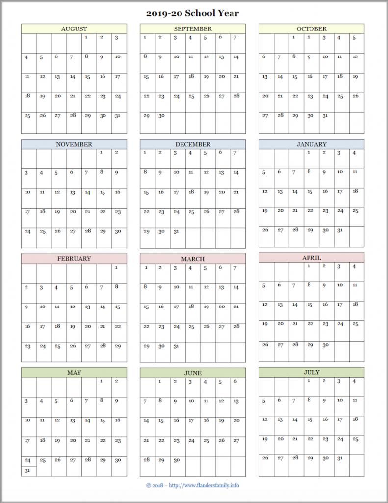 mailbag monday more academic calendars 2019 2020 free printed academic calendar for teacher at one glance