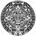 Mayan Calendar On White Background Mayan Calendar Template