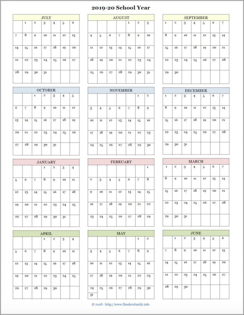 monday mailbag more academic calendars 2019 2020 free printed academic calendar for teacher at one glance