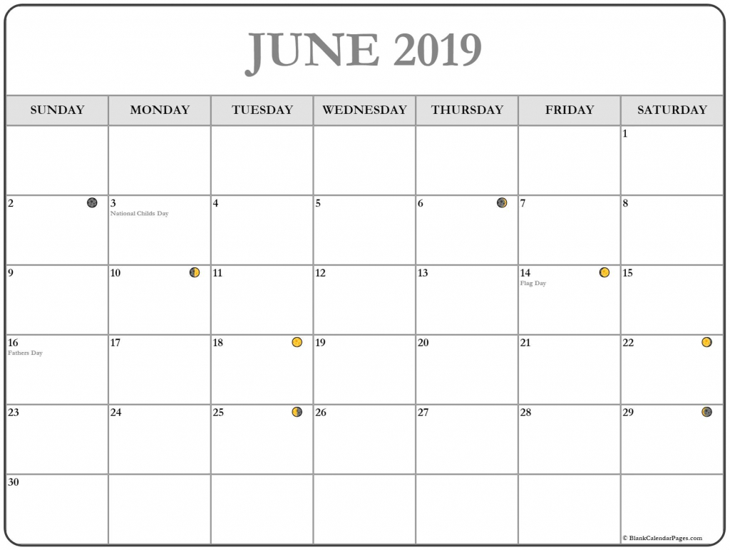 moon phases june 2019 calendar printable june june2019 calendar to print with moon phases