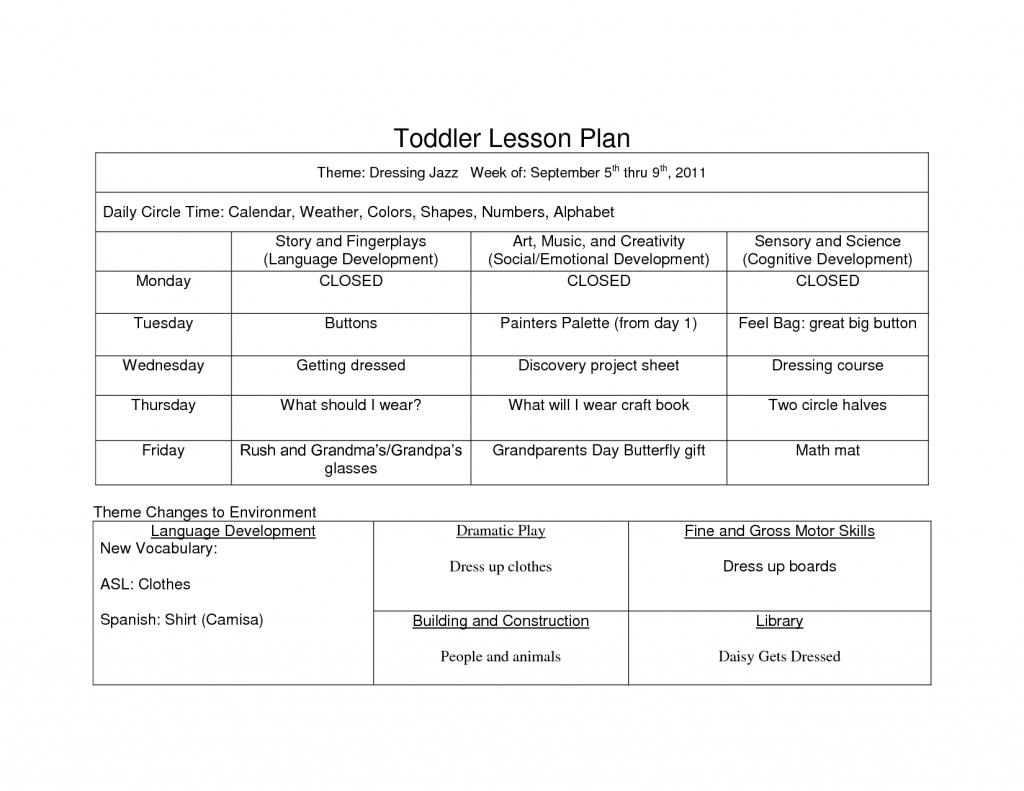 preschool curriculum themes sample of creative curriculum examples of calendar lesson plans