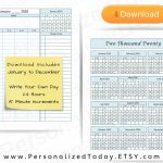 Printable 2020 Daily 24 Hours 15 Minute Increments Blank Calendar For September Blank Hours