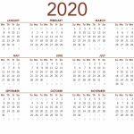 Printable Calendar 2020 With Notes 2019 Calendars For Free Calendar 2020 Printable