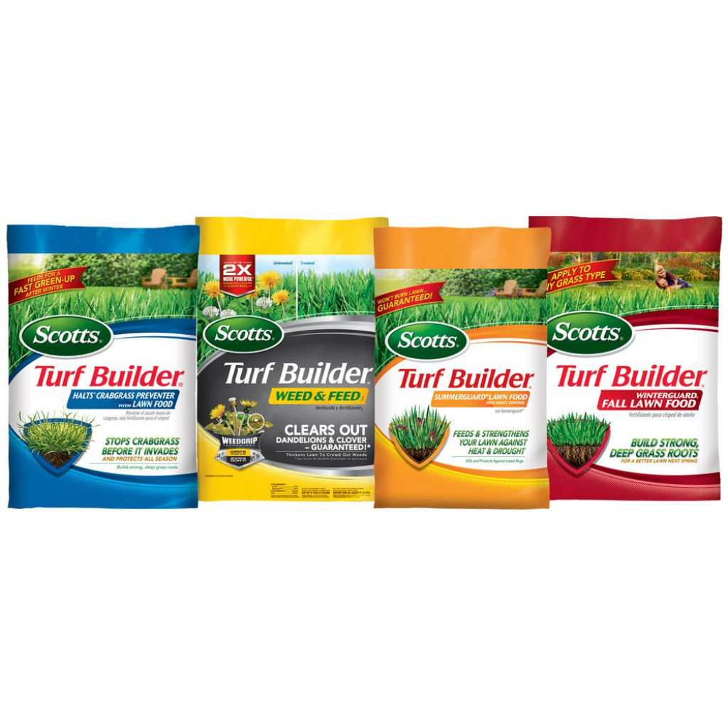 Scotts 5000 Sq Ft Northern Lawn Fertilizer Program For Bermuda Bluegrass Rye And Tall Fescue 4 Bag Scotts Lawn Care Schedule