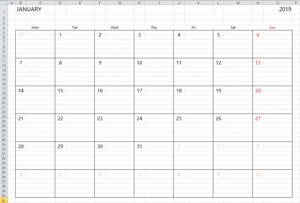 simple excel calendar template running calendar template