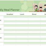 Simple Meal Planner One Week Food Schedule Template Blank