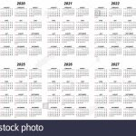 Ten Years Simple Editable Vector Calendars For Year 2019 Ten Year Calendar