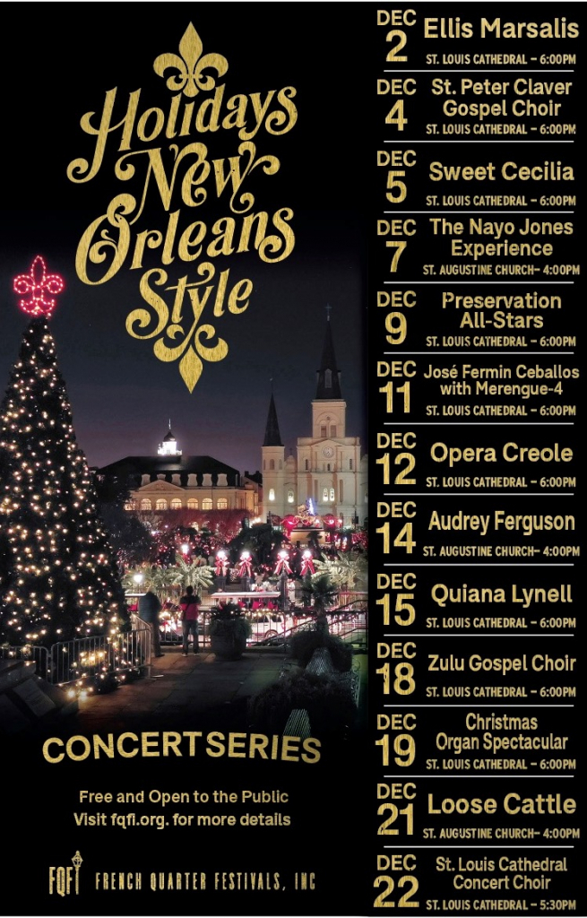 the holidays new orleans style calendar of holiday season new orleans music calender october