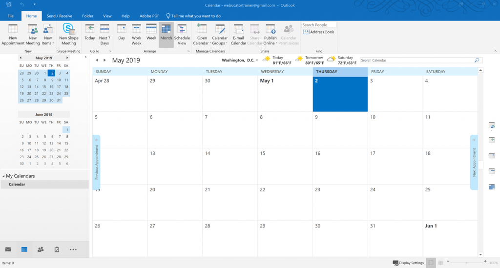 tutorial working with the calendar introduction to outlook calendaring crash course