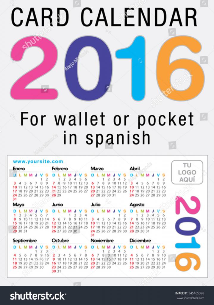 useful card calendar wallet pocket ready stock vector full calend wallet size