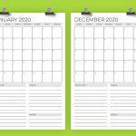 Vertical 11 X 17 Inch 2020 Calendar Template Running Calendar Template