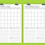 Vertical 11 X 17 Inch 2020 Calendar Template Running Calendar Template 2020 Printable Free