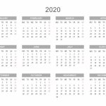 Yearly Calendar 2020 Printable Free For Agenda Calendar Free Calendar 2020 Printable