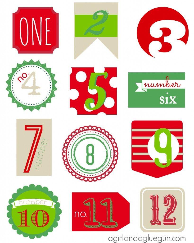 12 days of christmas free printable christmas gift tags 12 days of christmas advent calender template