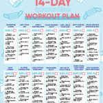 14 Day Quarantine Workout Plan Blogilates Https Www 30 Day Squat Calendar