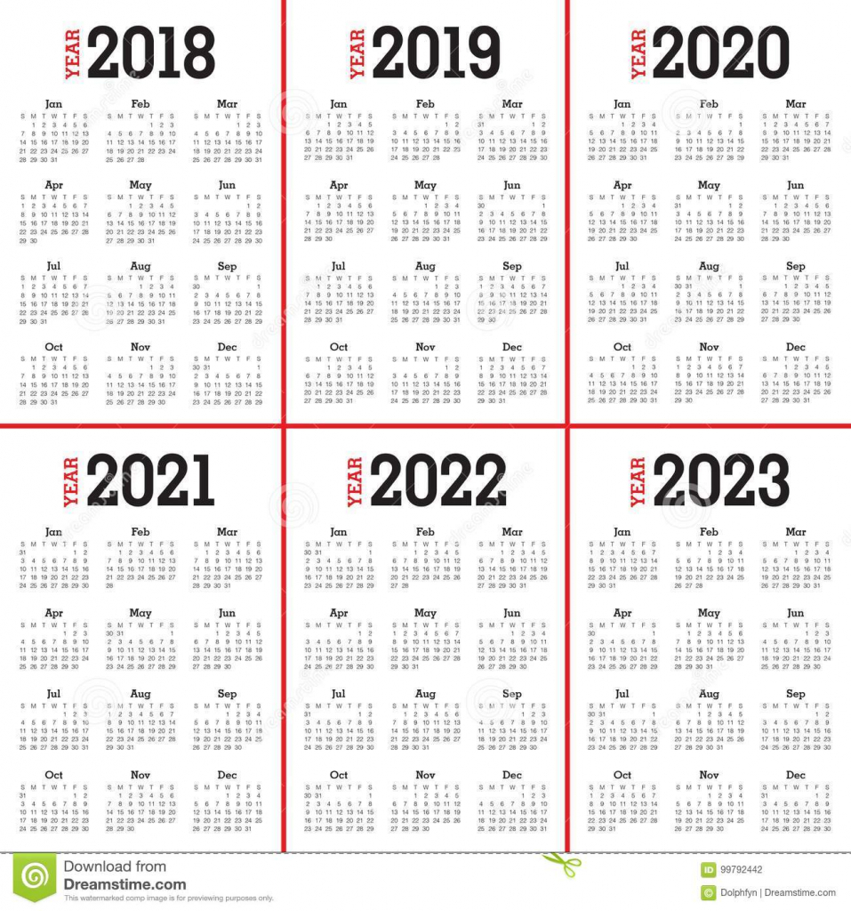 2018 2019 2020 2021 2022 2023 calendar calendars for next 5 years
