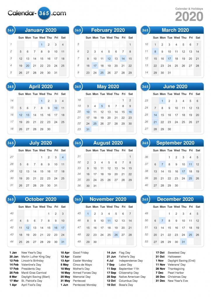 2020 Calendar 2020 Time And Date Calendar