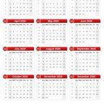 2020 Calendar Time And Date Calendar 2020 1