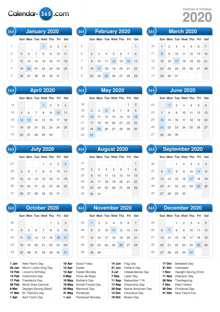 2020 calendar time and date calendar 2020